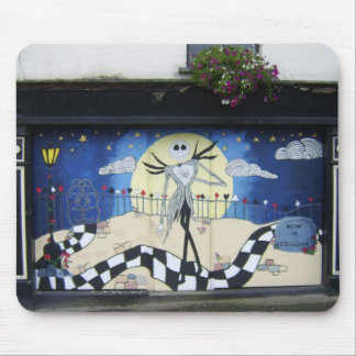 """Shop (For Sale) With Decorative Window Painting """"H Mousepad"""