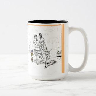 Shop girls Two-Tone coffee mug