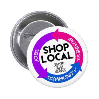 Shop Local 6 Cm Round Badge
