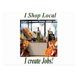Shop Local Create Jobs Postcard