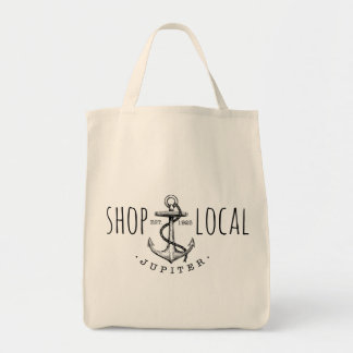 Shop Local Jupiter Grocery Tote Grocery Tote Bag