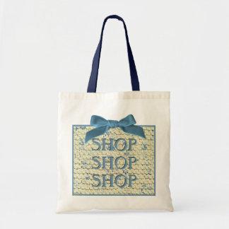 SHOP SHOP  SHOP  -  Hand Knit  - Cream and Blue