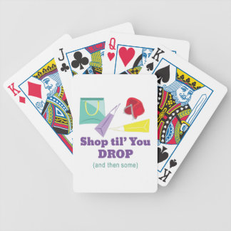 Shop Til Drop Bicycle Playing Cards
