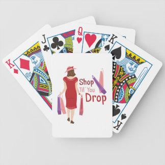 Shop Til Drop Bicycle Playing Cards
