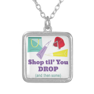 Shop Til Drop Silver Plated Necklace