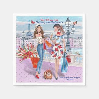 Shop 'til you drop  Birthday Party   Paper Napkins Disposable Serviette