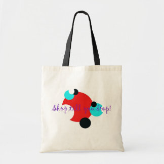 Shop till you drop! tote bag