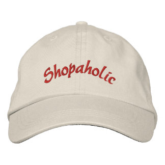 Shopaholic Funny Embroidered Cap Embroidered Baseball Cap