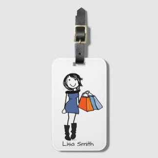 Shopaholic Luggage Tag Personalise