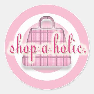 Shopaholic Round Sticker