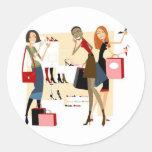 Shopaholic Round Stickers