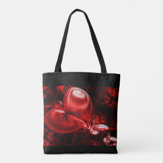 Shoping with heart tote bag