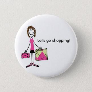 Shopping 6 Cm Round Badge
