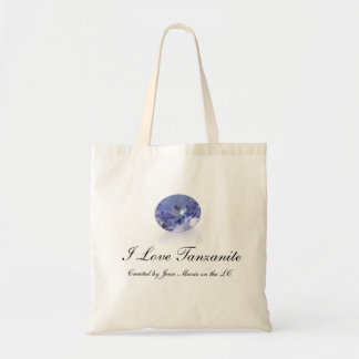 Shopping bag I Love Tanzanite. Reusable. Test