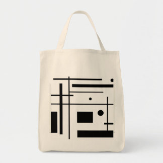 shopping bag. Stock market to make the purchases Grocery Tote Bag