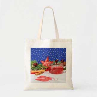 Shopping bag with Christmas motive