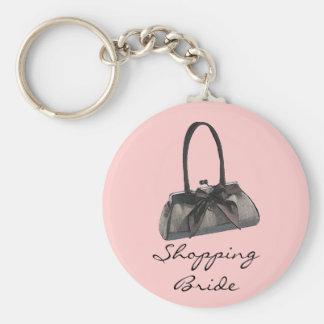 Shopping Bride / My Purse Basic Round Button Key Ring