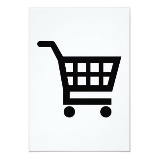 Shopping cart 9 cm x 13 cm invitation card