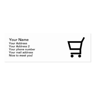 Shopping cart Double-Sided mini business cards (Pack of 20)