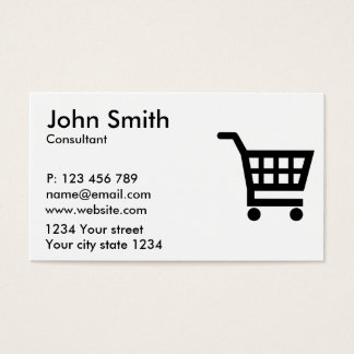 Shopping cart business card