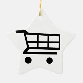 Shopping Cart Ceramic Star Decoration