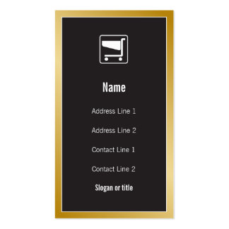 Shopping Cart Icon Business Card