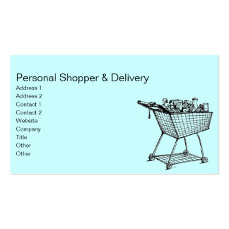 Shopping Cart Pack Of Standard Business Cards