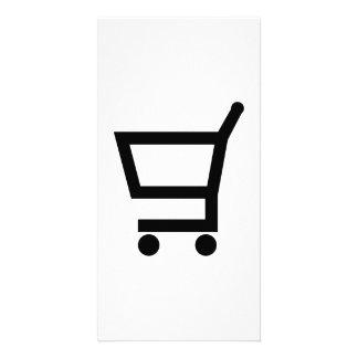 Shopping cart custom photo card