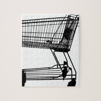 Shopping Cart Silhouette Jigsaw Puzzle