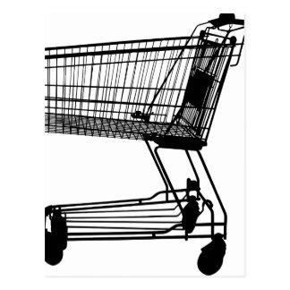 Shopping Cart Silhouette Postcard