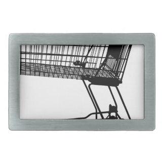 Shopping Cart Silhouette Rectangular Belt Buckles