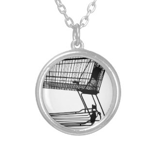Shopping Cart Silver Plated Necklace