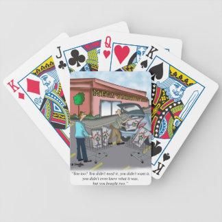 Shopping Cartoon 9392 Poker Deck