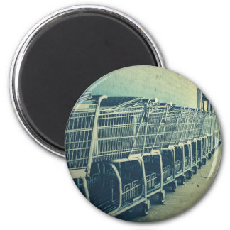 Shopping Carts Photograph Magnet