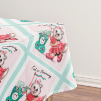 """SHOPPING CAT 2 Tablecloth COLOR LIPS 60""""x104"""""""