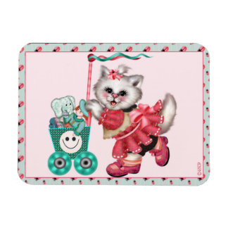 "SHOPPING CAT  3""x4"" Photo Magnet"