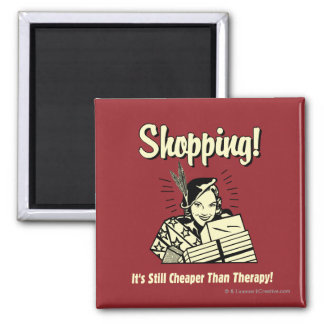 Shopping: Cheaper Than Therapy Square Magnet