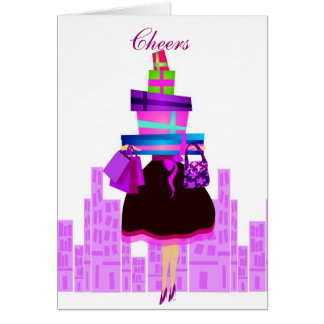 Shopping Cheers Greeting Card