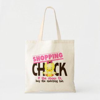 Shopping Chick 1 Budget Tote Bag