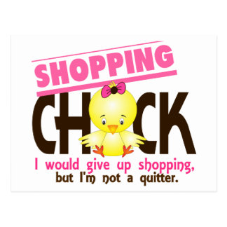 Shopping Chick 2 Postcard