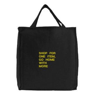 Shopping Custom Embroidered Bag