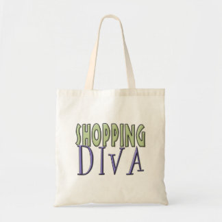 Shopping Diva tote Tote Bags