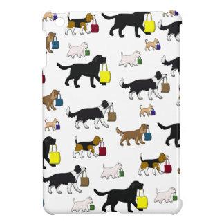 shopping dogs iPad mini case
