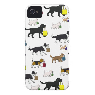 shopping dogs iPhone 4 case