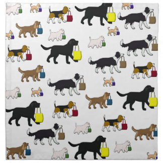 shopping dogs napkin