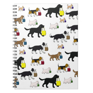 shopping dogs notebook