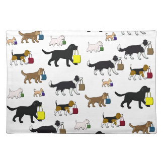 shopping dogs placemat