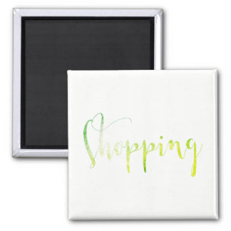 Shopping Green White Week Planner Home Office Magnet