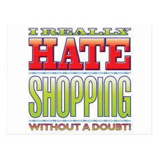 Shopping Hate Postcard