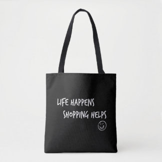Shopping Helps Tote Bag